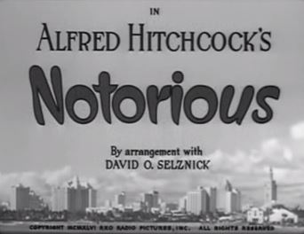 Alfred Hitchcock Notorious 1946